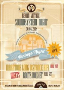 Berlin Vintage Soundsystem Night